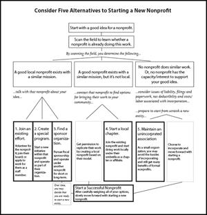 Alternatives for Starting a Nonprofit chart